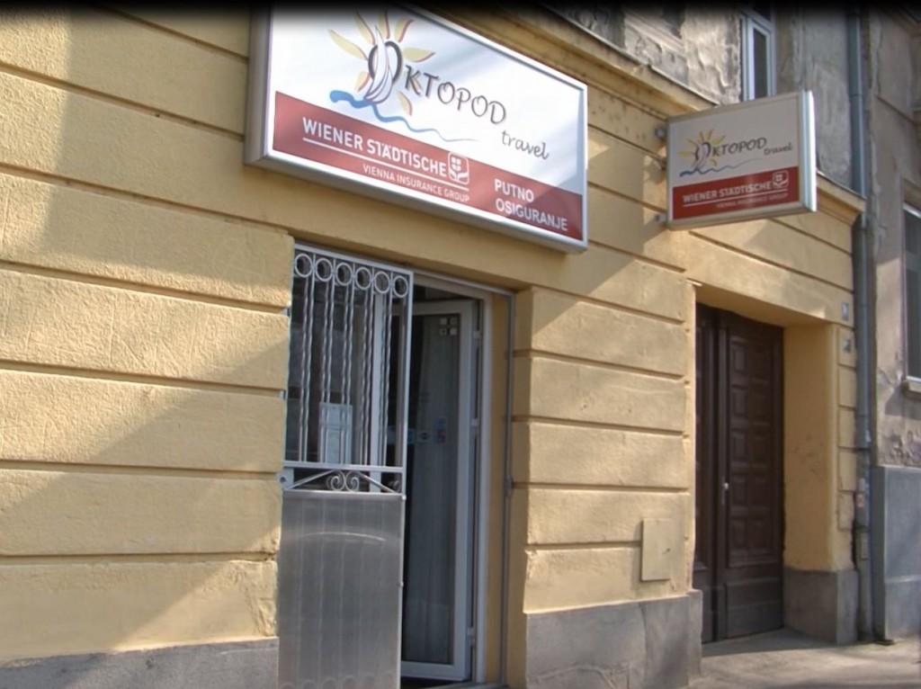 "Turistička agencija ""Oktopod travel"" u kojoj je Milan Bundalo kupio avio-karte za ""Wizz air-ov"" let na relaciji Beograd-Ajndhoven."