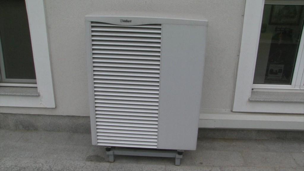 Spoljna jedinica sistema toplotnih pumpi koja koristi vazduh kao izvor toplotne energije