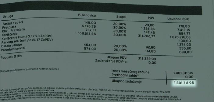 Protected: Račun za mobilni telefon od preko 1.800.000 dinara