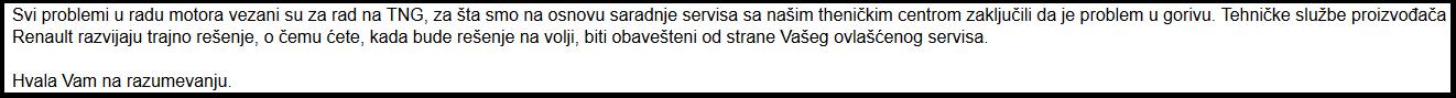 Odgovor Reno Nissan Srbija